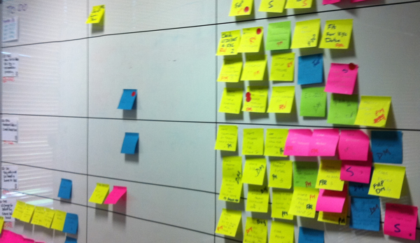 Physical Taskboards Growing Agile