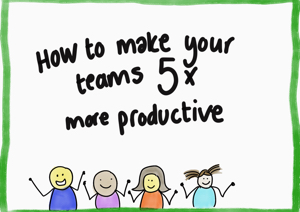 Sketchnote: How to make your team 5 times more productive